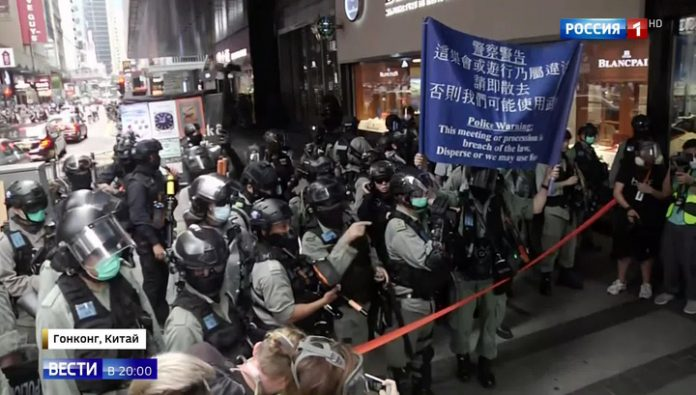 The United States accused China of undermining the rights and freedoms of Hong Kong, as Beijing reacts