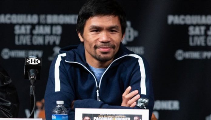 Boxer Pacquiao will compete for the post of President of the Philippines