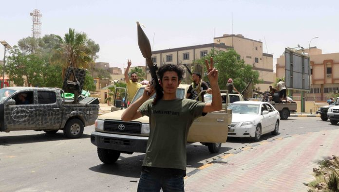 France, Germany and Italy called for an end to fighting in Libya