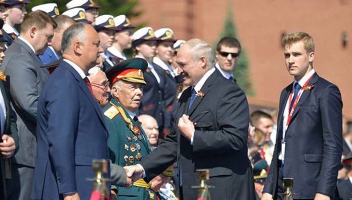 Lukashenko visited with his sons in the capital of their homeland
