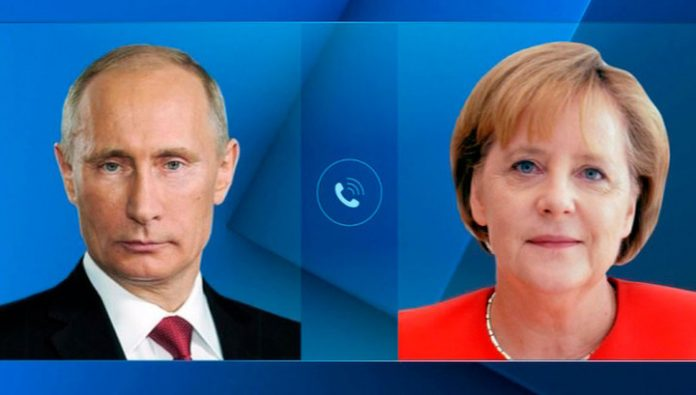 Putin and Merkel discussed the settlement of the conflict in Ukraine and the situation in Libya