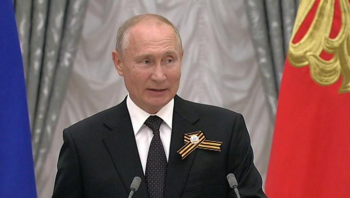 Putin proposed a toast for veterans, unity and victory