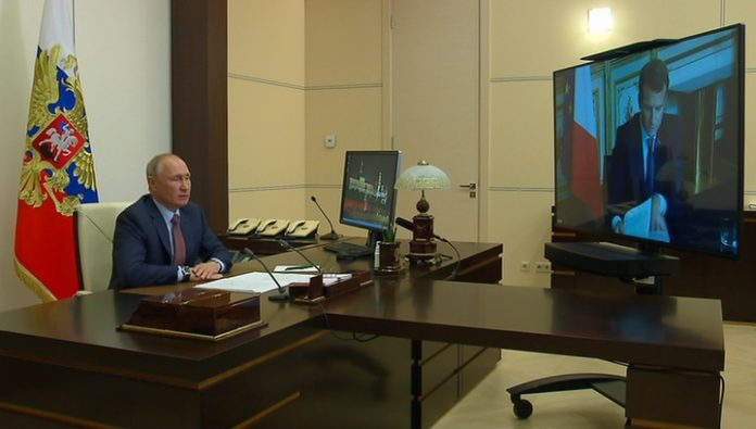 Putin warmly talked with Him via video link