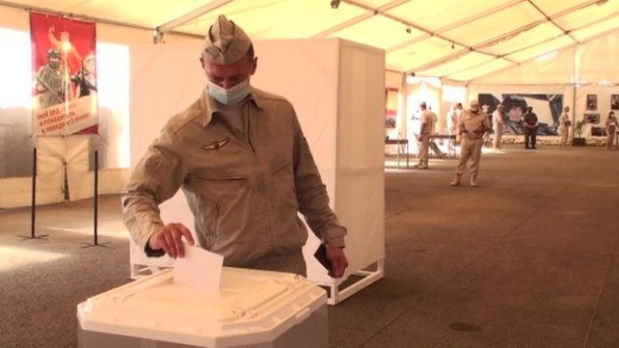 The military and diplomats in Syria took part in national vote
