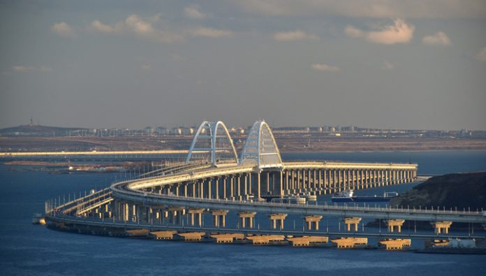 The President has no plans to run freight train traffic on the Crimean bridge