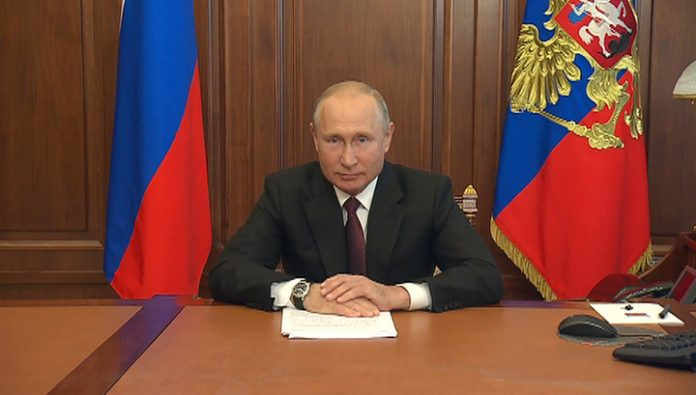 Vladimir Putin made a televised address to the Russians