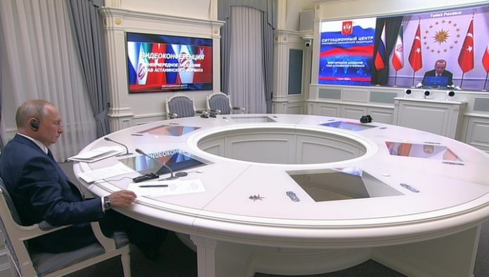 Started videosubmit the leaders of Russia, Iran and Turkey